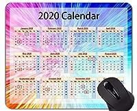 カレンダー2020年マウスパッドカスタマイズ、カラフルでカラフルなマウスパッド