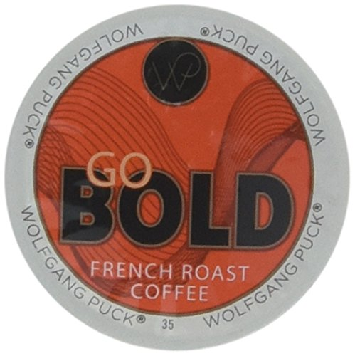 Wolfgang Puck French Roast Coffee for Single Serve Cups, Go Bold, 96 Count