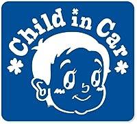 imoninn CHILD in car ステッカー 【マグネットタイプ】 No.23 赤ちゃん2 (青色)