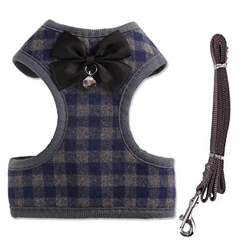 Smoro guinzaglio e guinzaglio per Cani Piccoli, Imbracatura Gilet per Animali Domestici con Rete Bowknot Imbottita per Cani di Piccola Taglia Chihuahua Yorkies Pug