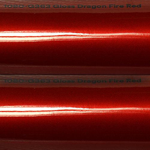 20,72€/m² 3M Autofolie Scotchprint Wrap Film 1080 gloss G363 dragon fire red gegossene Glanz Profi Folie 152cm breit BLASENFREI mit Luftkanäle