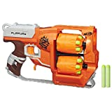 Nerf Zombie Strike FlipFury Blaster,Orange, Etc.