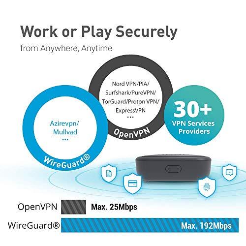GL.iNet GL-S1300 (Convexa-S) Home AC Gigabit VPN Router, 400Mbps(2.4G)+867Mbps(5G) Hochgeschwindigkeit, DDR3L 512MB RAM/16MB Flash ROM, 8GB EMMC, OpenWrt vorinstalliert, WiFi Vernetzung