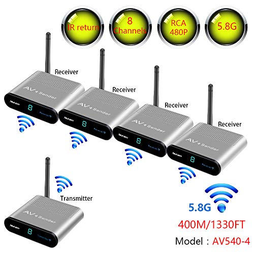 measy av540 400M Wireless AV geavanceerde digitale RCA audio video zender ontvanger zender voor CCTV DVD satelliet Android kabel TV 1TX tot 4RX
