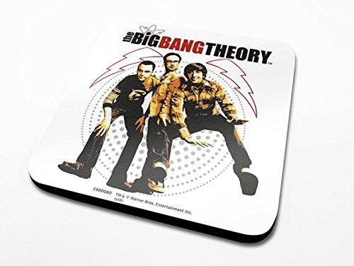 Pyramid International The Big Bang Theory Fisheye Officielle Dessous-de-Verre Housse de Protection en mélamine avec Base en liège, Multicolore, 10 x 10 cm