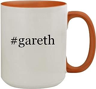 #gareth - 15oz Hashtag Colored Inner & Handle Ceramic Coffee Mug, Orange