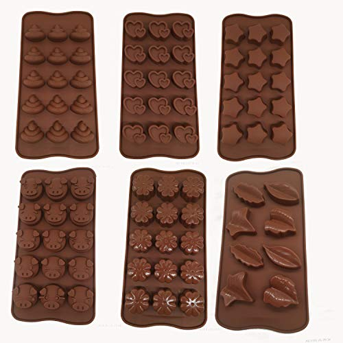 Diamond Found Cioccolato Moulds Silicone Candy Molls, Stop Apart Chocolate Mold Non-Stick Reuzible DIY Baking Candy Protein -, Energy Bar Moulds 6 Packs