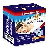 2 x Aufbissschiene Schnarchscheine Schnarchstopper Schnarchschutz Mouthguard | Zähneknirschen Nachtschutz Zahnschutz 2er Pack + Aufbewahrungsbox | Zur Verhinderung von Bruxismus und Kieferschmerzen