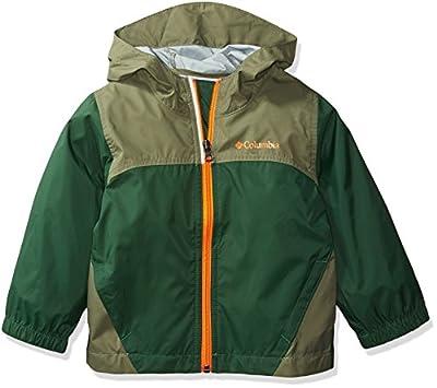 Columbia Boys Glennaker Rain Jacket, Forest/Cypress, Medium