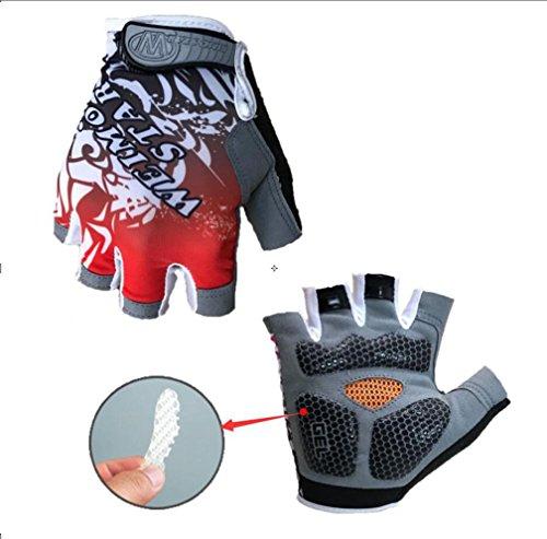 Cycling Gloves for Men Women 3D Gel Pad Bike Glove (red M)
