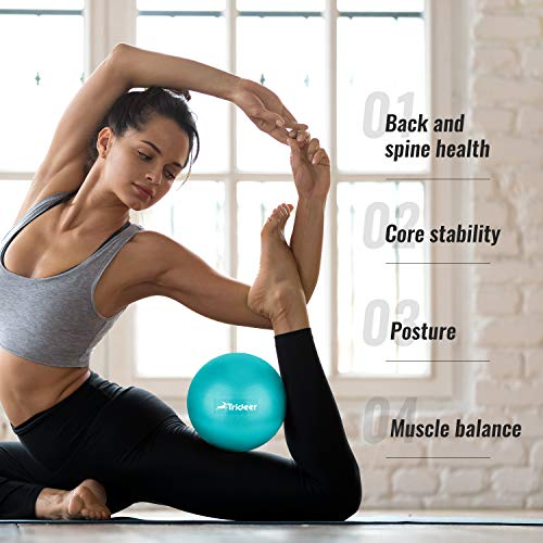 Trideer Pilates Ball, Barre Ball, Mini Exercise Ball, 9 Inch Small Bender Ball, Pilates, Yoga, Core Training and Physical Therapy, Improves Balance, Core Strength