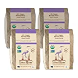 Great River Organic Milling, Durum Flour, Stone-Ground, Organic, 5 Pounds (Pack of 4)