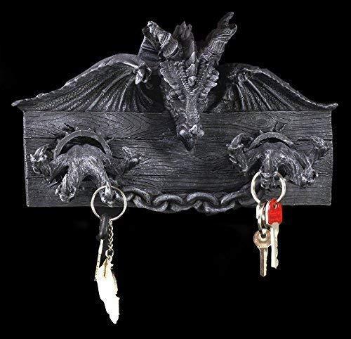 Drachen Schlüsselbrett | Gothic Kleiderhaken | Deko Fantasy Figur