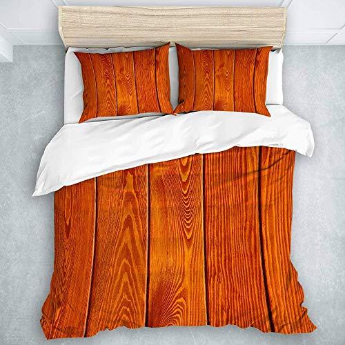 Juego de ropa de cama de 3 piezas, suelo naranja, decoración para habitación universitaria, 1 funda de edredón y 2 fundas de almohada, tamaño individual