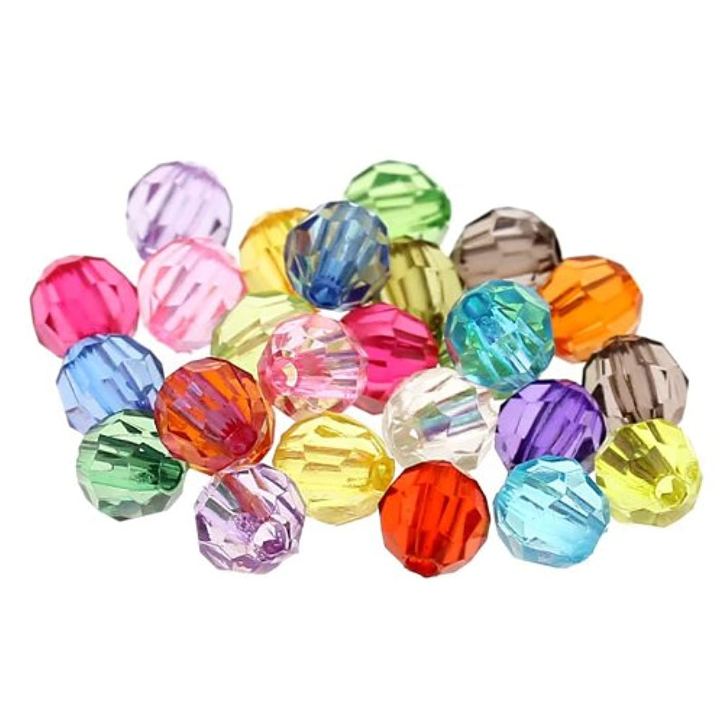 PEPPERLONELY 500pc Assorted 6mm Acrylic Faceted Round Spacer Beads [Office Product]