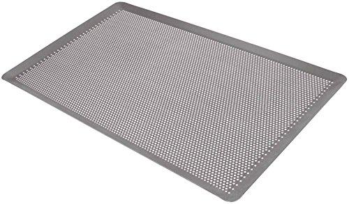 Bakplaat geperforeerd breedte 324 mm hoogte 11 mm lengte 530 mm staal geblauwd geperforeerd