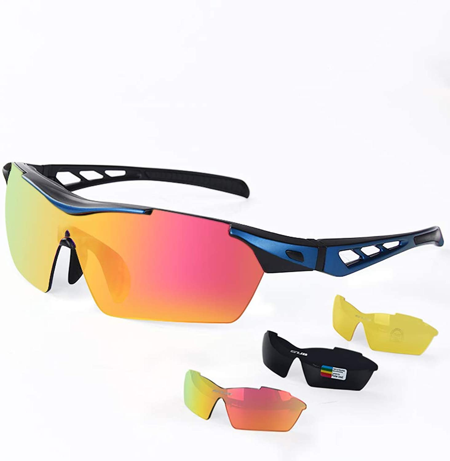 Polarized Sports Sunglasses Windproof Uv Predection Men's Outdoor Sports Glasses Hd Goggles Uv400 Predection Bicycle Fishing