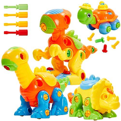 Buyger Puzzle Dinosaurios Construccion Juguetes Desmontar y Ensamblar Bricolaje Juguete Juegos Educativos Regalo de Cumpleaños Navidad para Niños 3 4 5 Años
