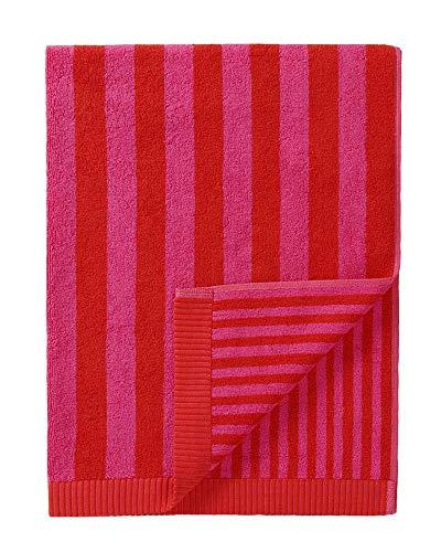 Marimekko - Kaksi raitaa - Badetuch - Duschtuch - Rot/Pink - 75x150cm