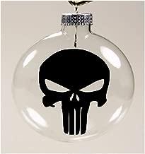 Merch Massacre Punisher Marvel Comic Book Christmas Ornament Glass Disc Holiday