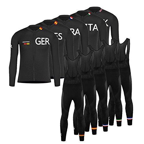 UGLY FROG HHWL07 Completo Ciclismo Abbigliamento Set MTB Racing Uomo Inverno Termico Vello Maniche Lunghe Antivento Ciclismo Maglia Lunga e Pantaloni