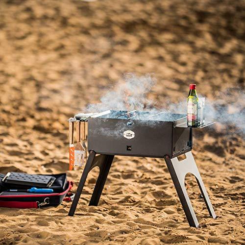 51BZN3+wbFL - Gizzo Grill und Zubehör | Tragbarer und Klappgrill Holzkohle-Grill für Camping, Travel, Vanlife, Transportabler Grill, Garten und Outdoor BBQ Grill-Spaß
