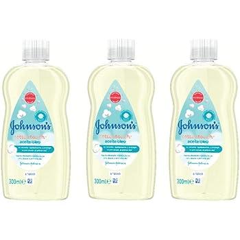 Johnsons Baby CottonTouch Aceite corporal a base de algodón puro - 3 x 300 ml: Amazon.es: Belleza
