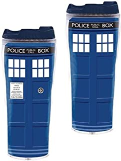 Doctor Who Travel Coffee Mug - Dr Who TARDIS Insulated Tumbler Cup - 12 oz by Underground Toys