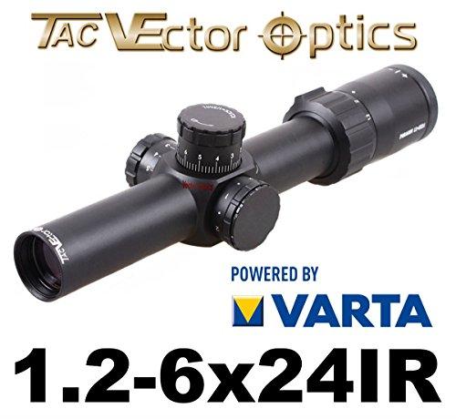 VECTOR-OPTICS Zielfernrohr mit Schott-Germany Gläser 1.2-6 x 24 Paragon für Jagd und Sport inkl. Picatinny Montage und Deckel