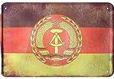 DDR Flagge Blechschild GDR Flag Tin Sign Vintage style