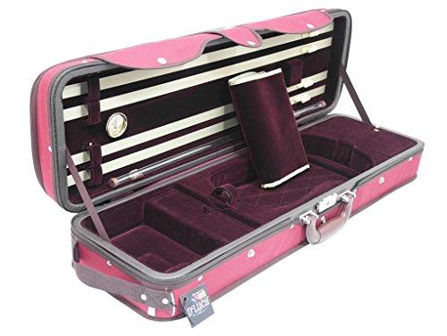 D'Luca CP05M-RDBU Heavy Duty Oblong Violin Case 4/4, Red/Burgundy