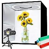 Tumax Caja de Luz 30 x 30 cm, Caja de Fotografía Portátil con Temperatura de Color y Brillo de Luz Ajustables, Caja de Luz para Fotografía Plegable con 120 Luces LED y 6 Fondos de Colores