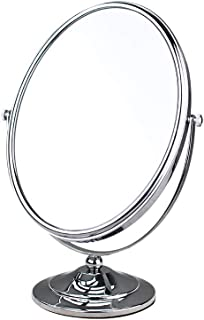 Double-Sided Mirror Oval Table Makeup Mirror Large Beauty Vanity Mirror one Side HD 3 Times Magnification Durable not Easy to Rust Apply Bedroom Bathroom Dressing Room
