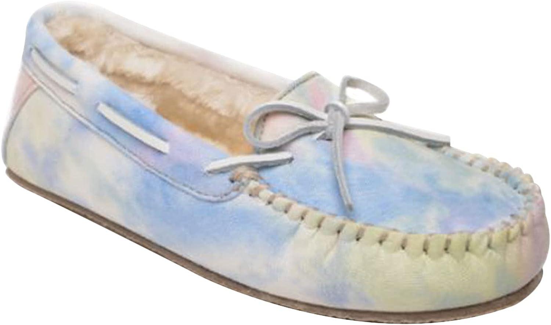 Minnetonka Tie-Dye Carrie Moccasins Slippers for Women