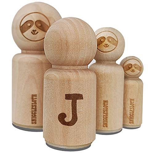 Cute Typewriter Font Letters and Numbers Rubber Stamp for Stamping Crafting Planners - 1/2 Inch Mini - Letter J