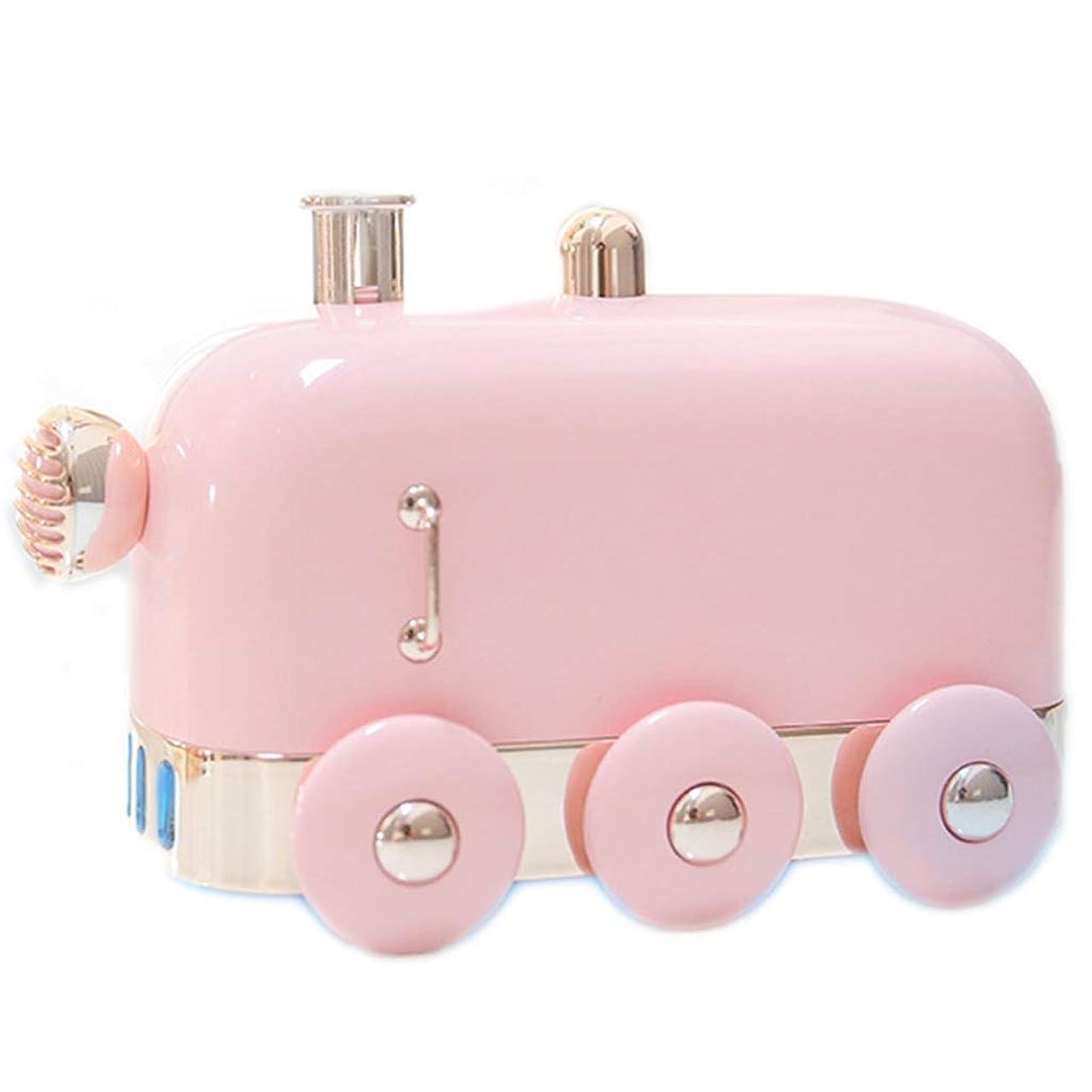 一般化する春姪アロマセラピーエッセンシャルオイルディフューザー、アロマディフューザークールミスト加湿器ウォーターレスオートシャットオフホームオフィス用ヨガ (Color : Pink)