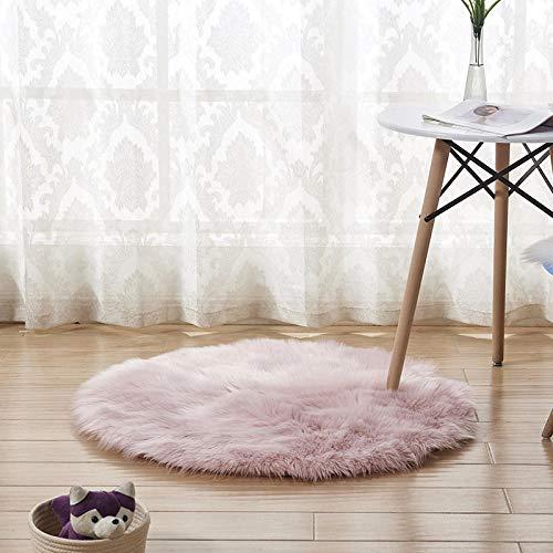 B/H Non-Slip Piel de Imitación,Grueso Suave Shaggy Alfombra,Alfombra de Felpa cojín de sofá cojín Dormitorio Ventana de bahía cojín-Pink_160cm