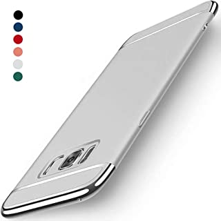 Galaxy S8 Plus Case, NAISU Galaxy S8 Plus Back Cover, Ultra Slim & Rugged Fit Shock Drop Proof Impact Resist Protective Case, 3 in 1 Hard Case for Samsung Galaxy S8 Plus - Silver