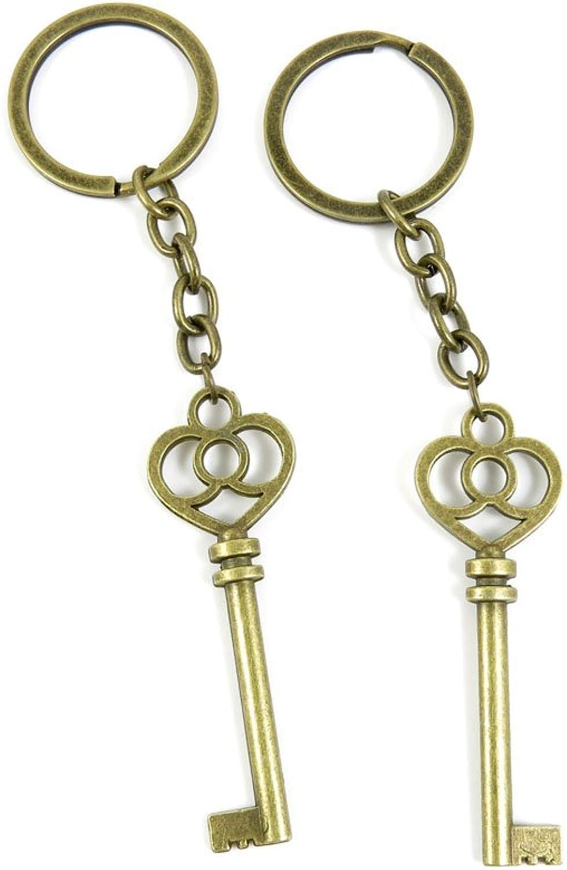 160 Pieces Fashion Jewelry Keyring Keychain Door Car Key Tag Ring Chain Supplier Supply Wholesale Bulk Lots U4RF4 Magic Skeleton Key