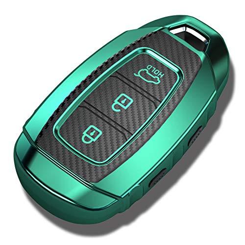 HKPKYK TPU Schlüsselhalter Abdeckung Fall, Für Hyundai Kona Solaris Creta Ix25 Veloster Santa Fe Größe I30, Zubehör Schlüssel Auto Kette Abdeckung Anhänger