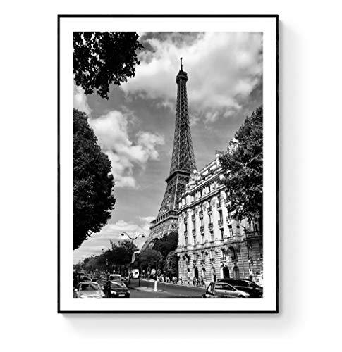 NANITHG 500 Piezas Rompecabezas Rompecabezas Torre Eiffel Árboles Flor Roja