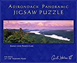 Carl E. Heilman II Adirondack Jigsaw Puzzle, Panoramic, Sunset Over Fourth Lake - FLPZ