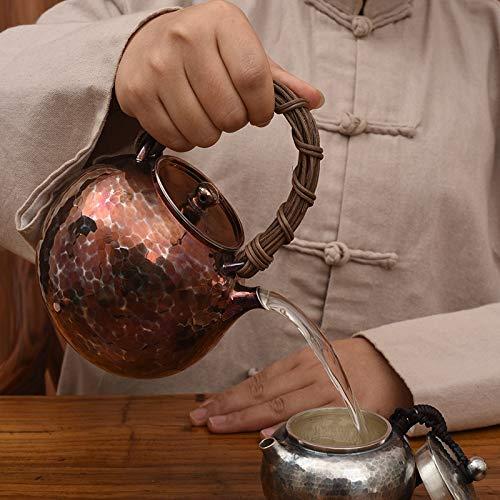 CRTTRC Servicio de té de la Tetera Hecha a Mano del hogar Agua Caliente Vaso de Plata esterlina Hervidor Ideas de Regalos (Color : 750ML 406G, Size : Gratis)