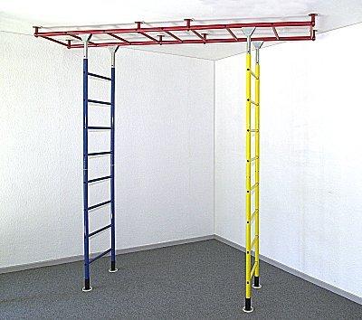 KletterDschungel Sprossenwand Indoor Kletterwand Brücke Grundgerüst (für Raumhöhen von 240-300 cm)
