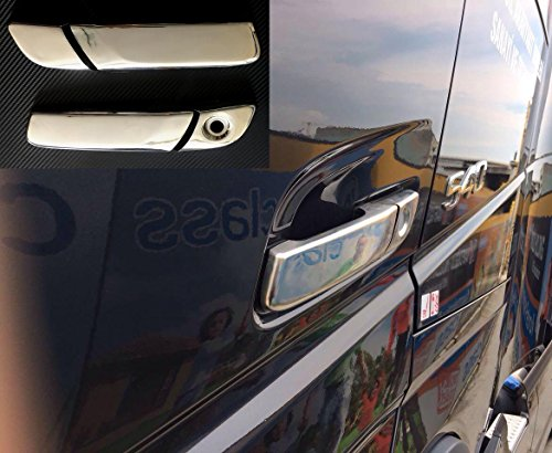 Lot de 4 pièces 3d Miroir en acier inoxydable Poignée de porte couvertures