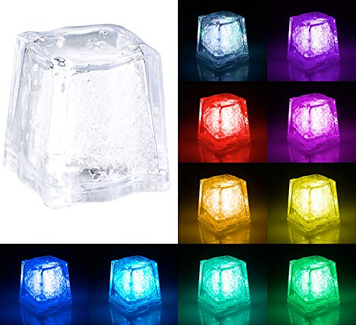 Lunartec Leuchtwürfel: Deko-Licht im Eiswürfel-Look mit RGB-Farbwechsel-LED (LED-Leuchteiswürfel)