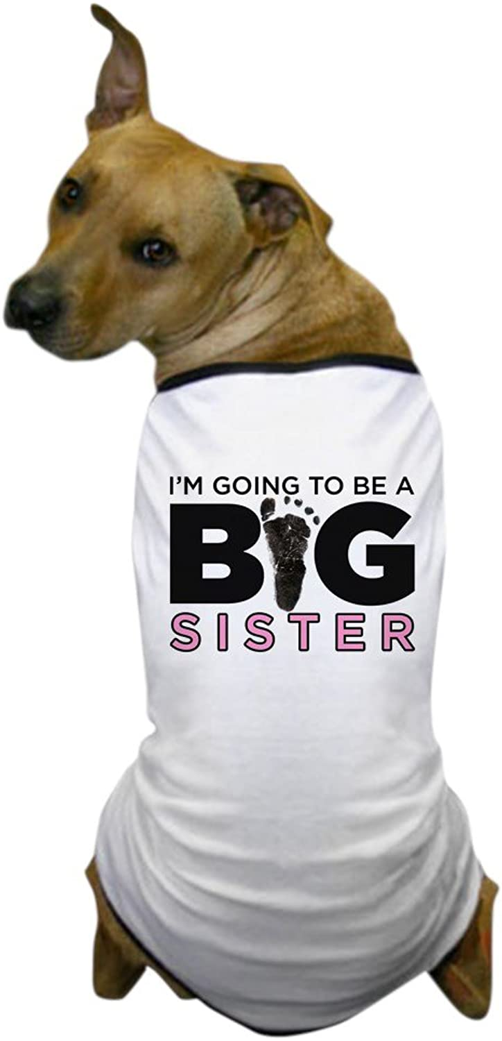 CafePress  Im Going to Be A Big Sister  Dog TShirt, Pet Clothing, Funny Dog Costume