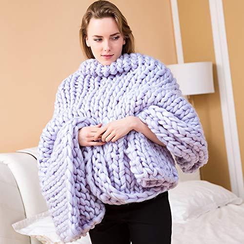 YZT QUEEN handgeweven dekens, enorme zachte en dikke geweven dekens, modieuze spreien voor thuis