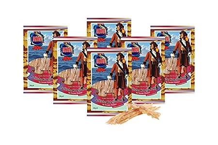 Bacalao del Pacífico - En sésamo (6 x 36 g) Snack natural Secado y salado I Bajo en carbohidratos I Alto en proteínas I fitness snack I Pescado seco rico en Omega -3 I para hombres y mujeres