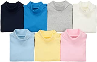 CuteOn 3/5/7 Packs Baby Cotton Turtleneck Top Bodysuit Gift Set - Random Color